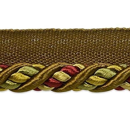 Expo International Ivory Lanier Twisted Lip Cord Trim, 20 yd/3/8, Multicolor IR8008IVM-20