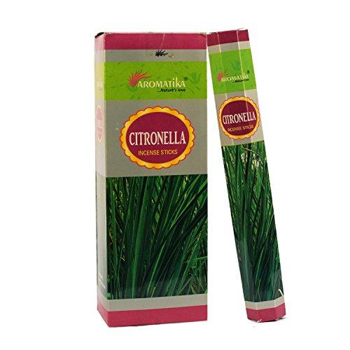 Aromatika Natural Citronella Incense Sticks 6 pack of 120 sticks