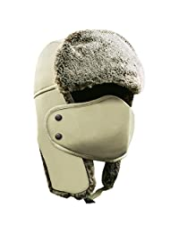 Winter Hat with Ear Flaps - AKASO Trooper Trapper Hat, Hunting Hat with Detachable Face Mask, Waterproof and Windproof Snow Hat, Warm Faux Fur Ushanka Hat for Men & Women, Free Neck Gaiter Included