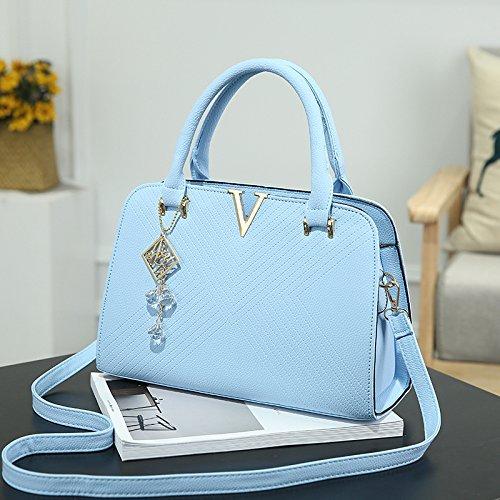 blue moda verde hombro Hombro Sky Bolso Messenger Bolso nueva XWAN de V CwzPB4qwX
