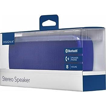Insignia Portable Bluetooth Stereo Speaker Blue - Refurbished
