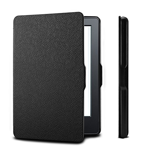 Infiland Case For New Kindle E-reader, Premium Smart Slim Shell Case Cover for Amazon New Kindle E-reader 6 Display 2016 Release 8th Generation (With Auto Wake/Sleep), Black