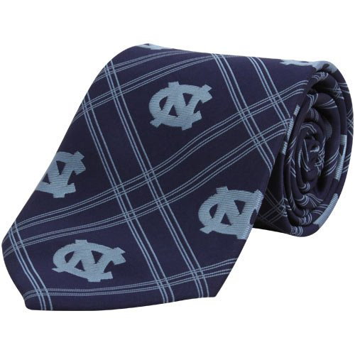 North Carolina Tar Heels Tie (NCAA North Carolina Tar Heels (UNC) Navy Blue Plaid Woven Tie)