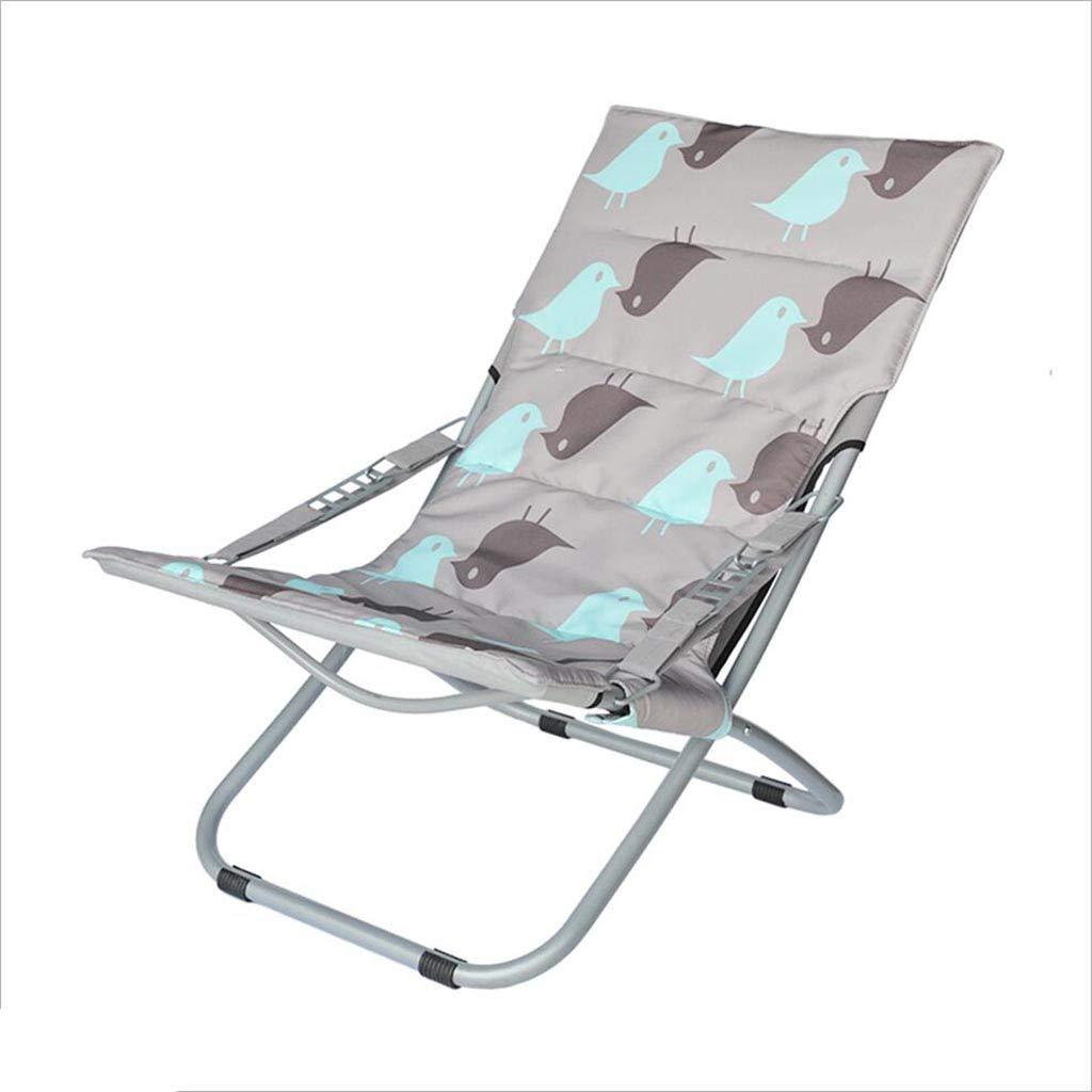 QZ HOME Stühle, Moderner Minimalismus Weich Und Bequem Baumwolle Kann Falten Gestapelt Blau Siesta Chaiselongue