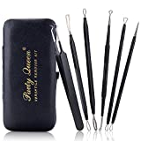 comedone Party Queen Blackhead Remover Tool 6 Pcs Versatile Removal Kit Facial Extractor Treatment for Pimple Acne Comedone Blemish Whitehead Popping