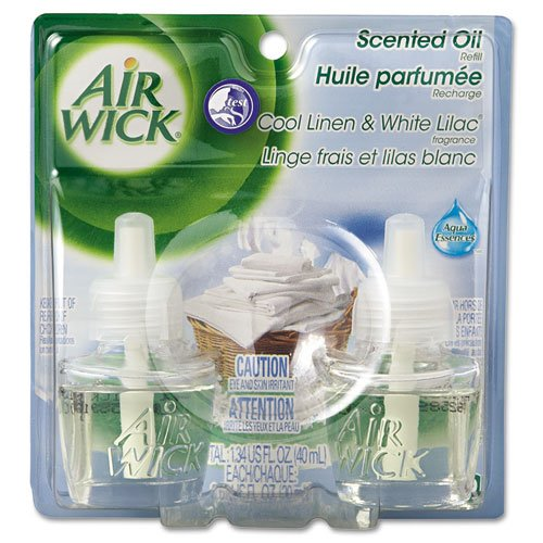Scented Oil Twin Refill, Cool Linen/White Lilac, 0.71oz Bott