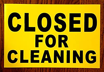 "1Pc Credible Unique Closed for Cleaning Magnetic Sign Store Declare Indoor Message Outdoor Decal Bathroom Staff For Restroom Work In Progress Wet Floor Caution Do Not Enter Banner Hanging Size 8""x12"""