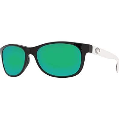 b9d390408 Image Unavailable. Image not available for. Color: Prop Polarized Sunglasses  - Costa 400G Glass Lens Black-White/Green Mirror ...