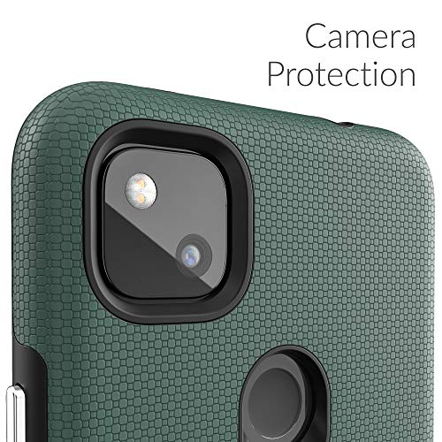 Crave Pixel 4a Case, Dual Guard Protection Series Case for Google Pixel 4a - Forest Green