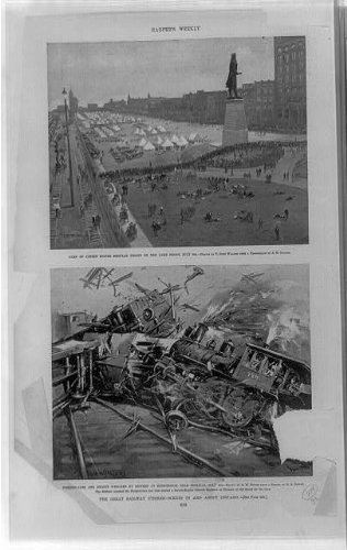 Photo: Great railway strikes,military camps,sabotage,scenes,Chicago,Illinois,IL,1894