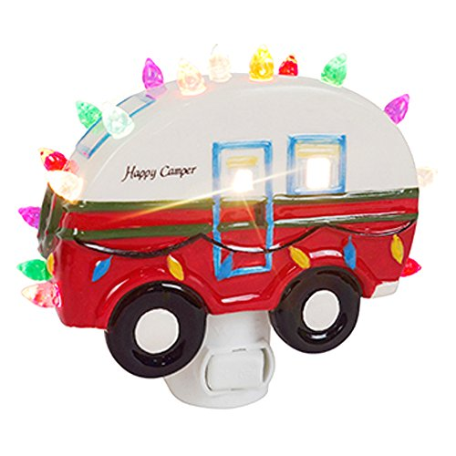 ReLIVE Christmas is Forever Night Lights (Happy Camper, Ceramic Night Light)