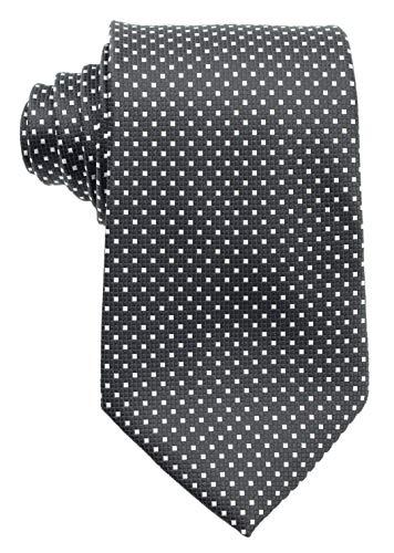 New Classic Solid Checks Paisley JACQUARD WOVEN Silk Men's Tie Necktie (Check Black White)