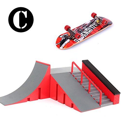 AumoToo - Rampas Skatepark, Mini Kit Diapasón Parque Del Patín Monopatín Dedo Entrenamiento En La última Puntales Juguete Regalo de Navidad Para Niños ...