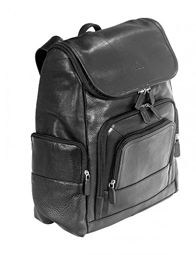 """Mancini Leather Goods Columbian 15.6"""" Laptop Backpack with RFID Secure Pocket"""