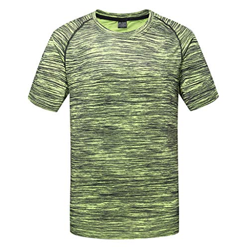 refulgence Men's Solid Fitness Gym Quick-Dry Breathable Top Blouse -