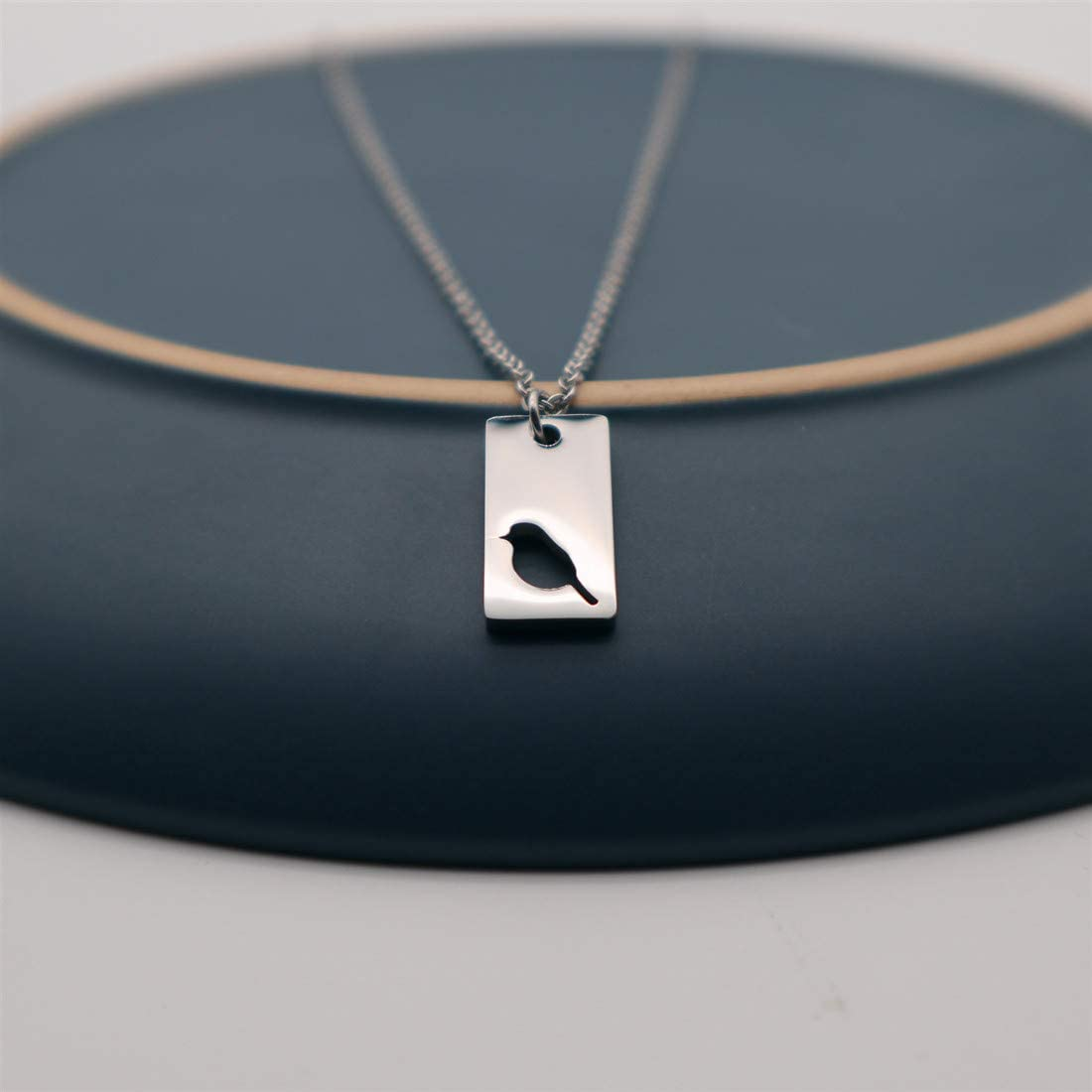 NIANXIN Mother Daughter Necklace Set Little Bird Silver Necklace Set Mothers Day Mother Daughter Gift