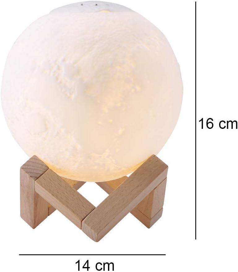 humidificateur dair avec lhumidificateur ultrasonique USB dhuile Essentielle darome de diffuseur pour Aider /à Dormir Dormir hydrater Durable Sunsbell Lumi/ère de Nuit de Lune de 3D LED de