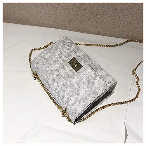 Gray Borse biancheria Bag catena Borsa tela borsetta Messenger tracolla Borsa Borse zaino elegante pelle vintage JUNMAONO a a donne Borsa Donna per Borsa Borse da tracolla spiaggia OwqzRZaFn