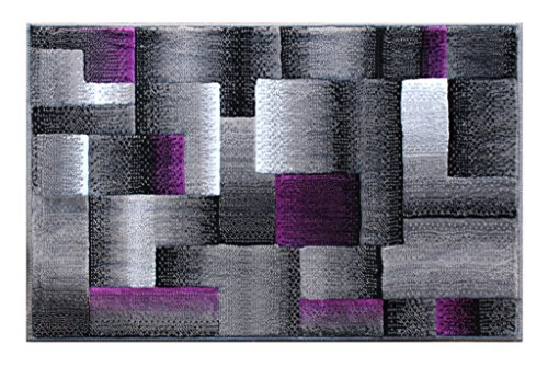 Masada Rugs Modern Contemporary Area Rug Purple Grey