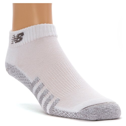 New Balance Unisex 2 Pack Technical Elite Low Cut with Coolmax Socks, Large, White
