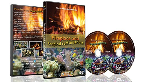 (Fire and Fish - 2 DVD set Fireplace and Tropical Reef Aquarium 2016 )