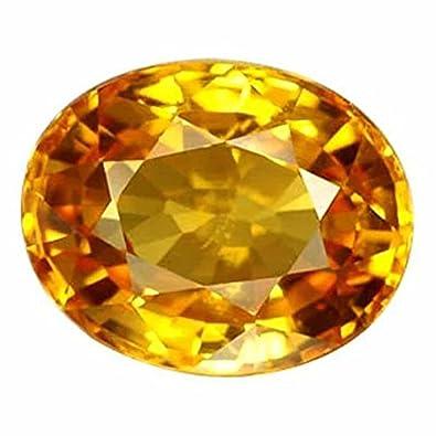 S Kumar Gems & Jewels 7 25 Ratti Yellow Sapphire Gemstone for Men and Women