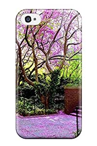 Excellent Iphone 4/4s Case Tpu Cover Back Skin Protector The Pink Pathway Photography Scenic People Photography