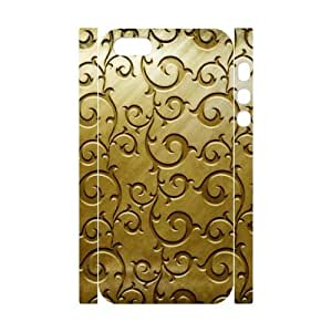Gold Pattern 3D-Printed ZLB566855 Custom 3D Cover Case for Iphone 5,5S