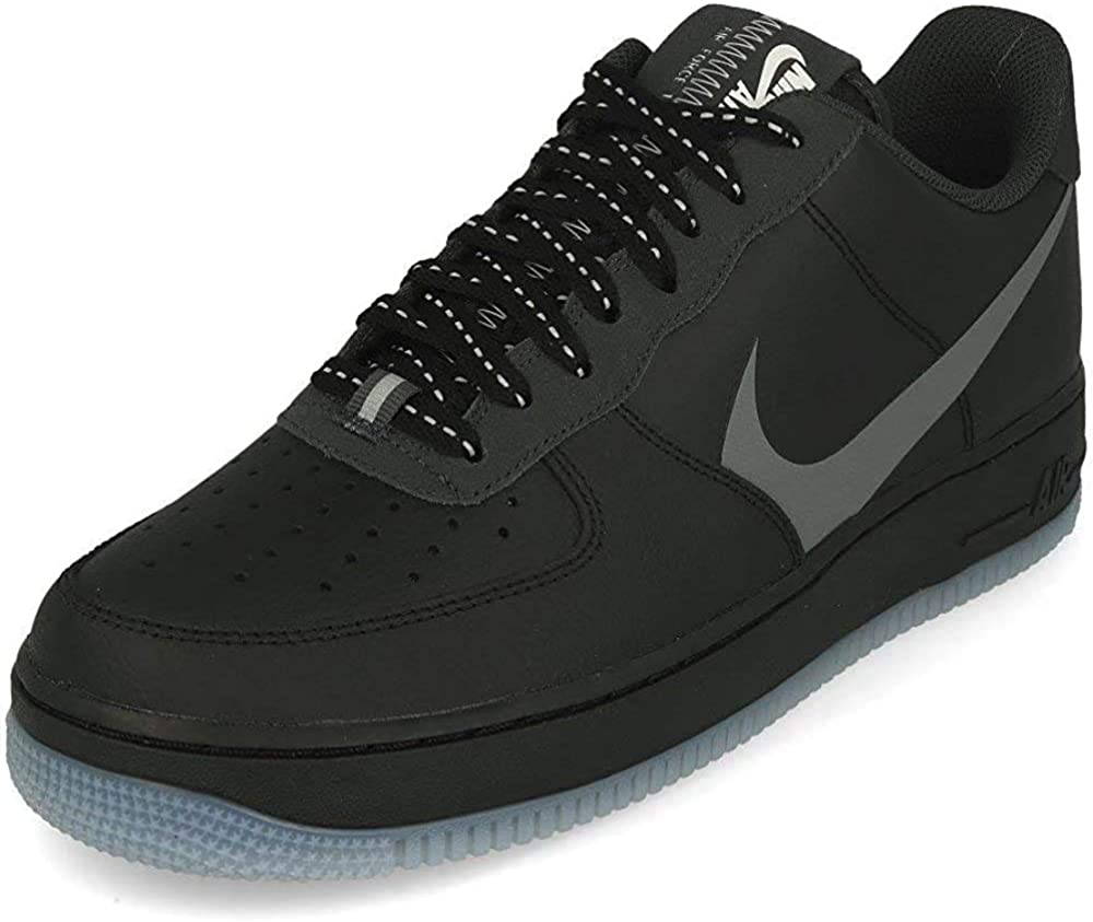 Nike Air Force 1 '07 Lv8 3, Chaussure de Basketball Homme Black Silver Lilac Anthracite White