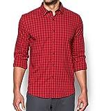 Under Armour Men's Performance Woven Shirt, Red/Cardinal, Small