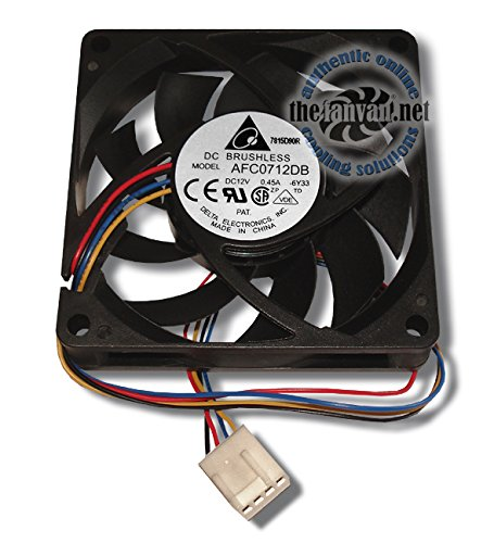 Delta AFC0712DB 70mm x 15mm 4 Pin PWM CPU Cooling Fan with mounting screws