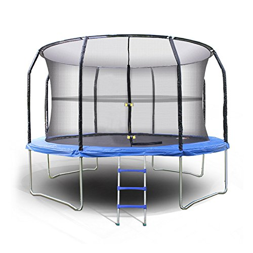 Homdox 14' Outdoor Trampoline Enclosure Netting 4 Arch 8 Poles Exercise Safety Net by Homdox