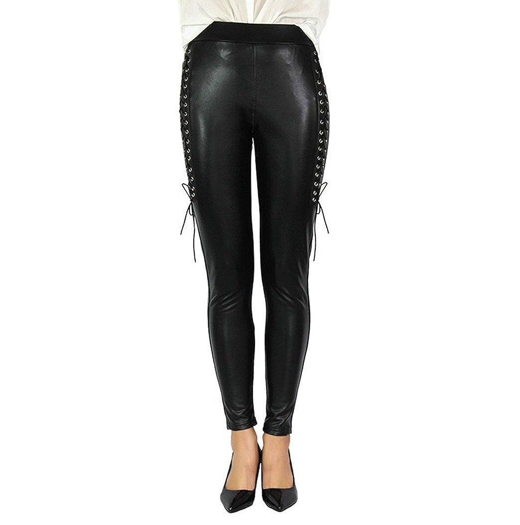 4243e32ae668d Gaorui Women Yoga Trousers Leggings Black Stretchy High Waisted Tight Skinny  Pants at Amazon Women's Clothing store: