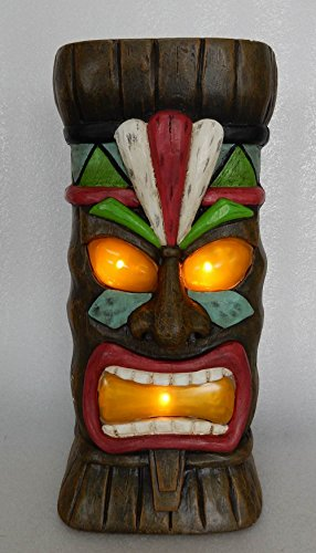 Hi- Line Gift 78527 Decorative Clayfibre Tiki Statue with Solar Lights by Hi- Line Gift