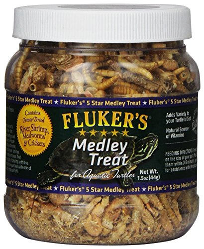 Fluker Labs SFK72020 Aquatic Turtle Medley Treat Food, - Hatchling Aquatic Turtle