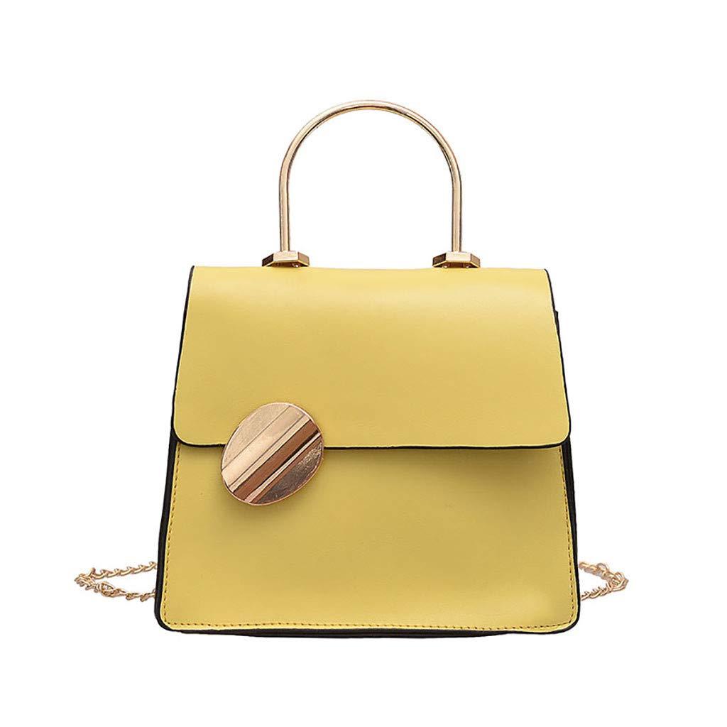 3 Colori Borse a Tracolla da Donna Elegante Borse a Spalla Piccolo Borse a Mano di PU Pelle Tote Bag Portafoglio Messenger Bag per Ragazza Nero,Verde,Giallo
