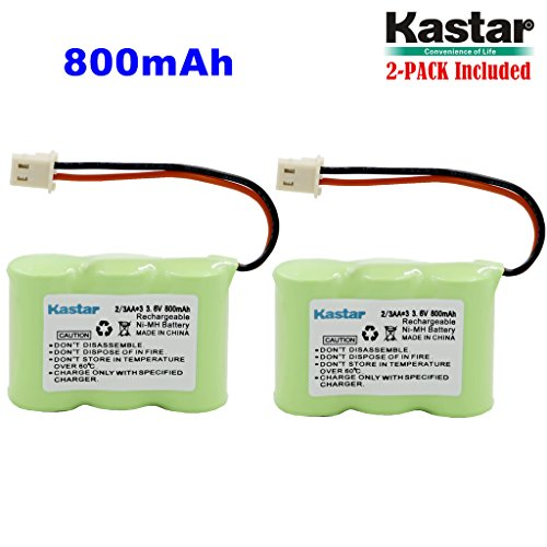 (Kastar 2-PACK 2/3AA 3.6V 800mAh 5264 Ni-MH Rechargeable Battery for Home Phone V-Tech 80-1338-00-00 89-1332-00-00 89-1338-00 BT-17333 BT-27333 BT-17233 BT-27233 BT-163345 BT-263345 Cordless Telephone)
