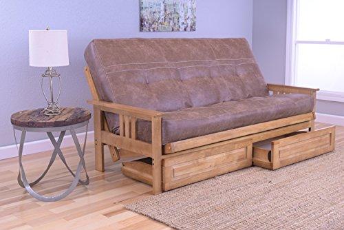 Kodiak Furniture KFMODBTPSLTLF5MD4 Monterey Futon Set with Butternut Finish and Storage Drawers, Full, Palance Silt price