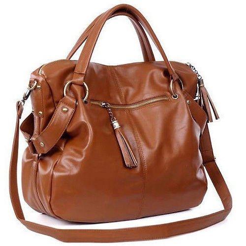 Fashion Handbag Lady Shoulder Bag Tote Purse PU Leather Women Messenger Hobo #Brown