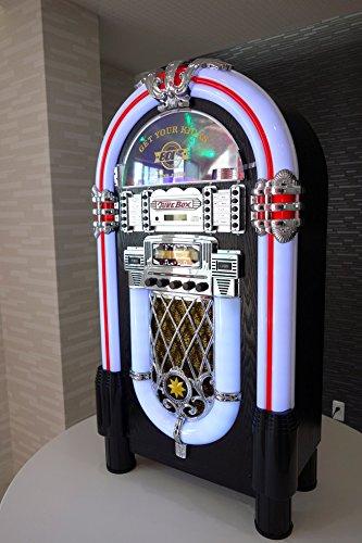 JUKE BOX風 大型音楽プレイヤー(CDプレイヤー/FMラジオ/USBフラッシュ/SDカード/外部入力φ3.5mm) B00YCAREGM