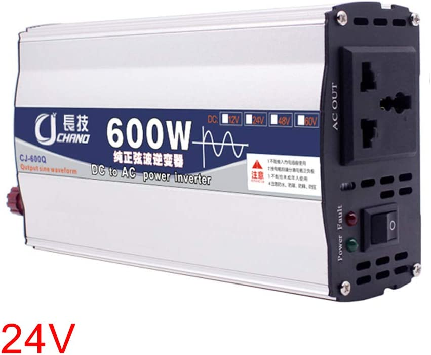 vap26 600W 1000W 12V 24V To 220V Power Inverter Pure Sine Wave Practical Car Adapter(1000w,24v)