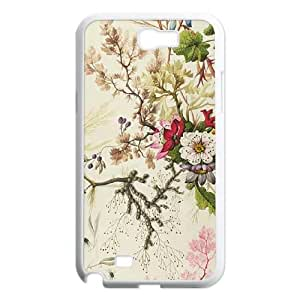 Samsung Galaxy N2 7100 Cell Phone Case White_Seaweed on Silk Paper Tdked