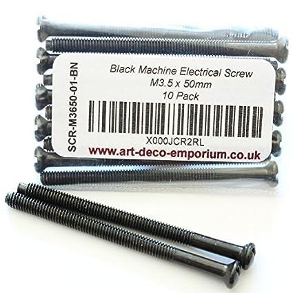 M3.5 Taskar 50mm Black Nickel Electrical Socket Screws 10 Pack