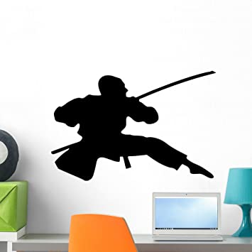 Amazon.com: Wallmonkeys WM176835 Action Ninja Silhouette-6 ...