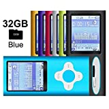 G.G.Martinsen Blue-with-White Versatile MP3/MP4 Player, Support Photo Viewer, Mini USB Port 1.8 LCD, Digital MP3 Player, MP4 Player, Video/Media/Music Player