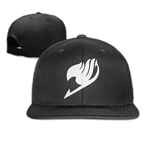 MaNeg Fairy Tail Logo Unisex Fashion Cool Adjustable Snapback Baseball Cap Hat One Size - Pics Girls Nylon