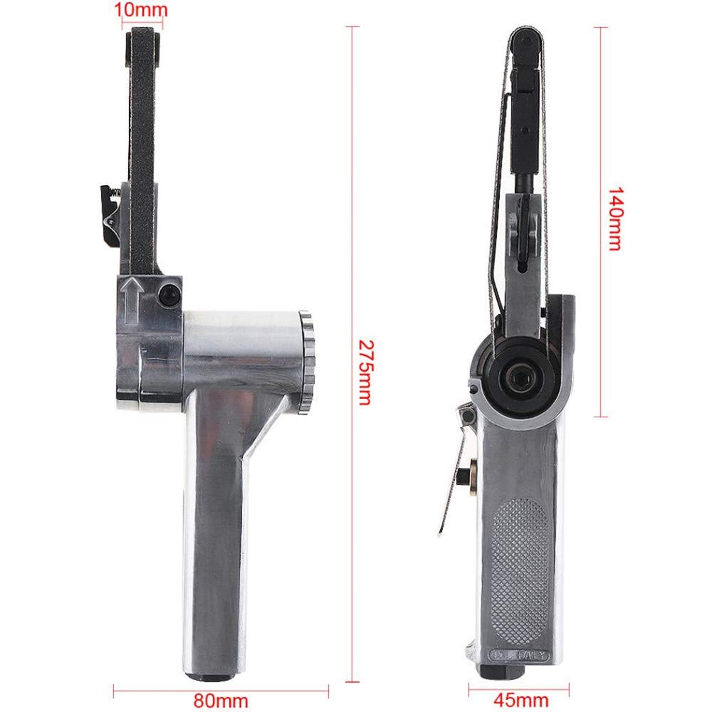 NEWTRY 3//8 x 13 Hand Variable Speed Air Belt Sander 16000rpm Protable Pneumatic Abrasive Belt Polishing Sanding Grinder Polisher