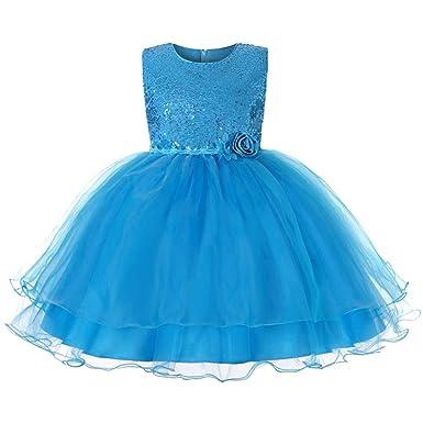 c3f9a81d6387d JiaDuo Baby Girl Lace Mesh Tutu Dress Sequin Bow Toddler Princess Gown (3-4