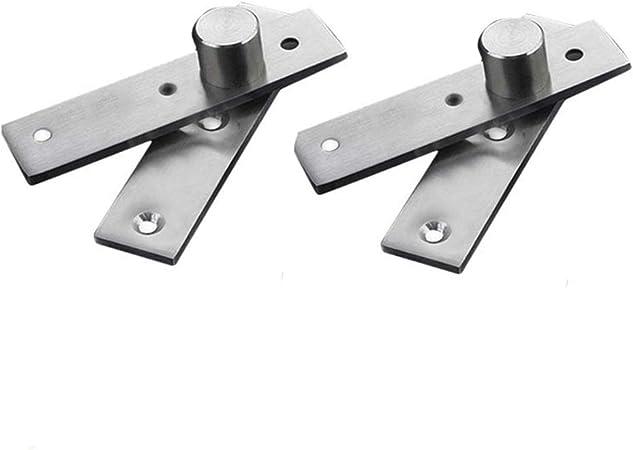 Dreamtop Lot de 2 charni/ères de porte cach/ées en acier inoxydable pivotant /à 360/°
