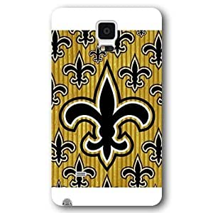 UniqueBox Customized NFL Series Case for Samsung Galaxy Note 4, NFL Team New Orleans Saints Logo Samsung Galaxy Note 4 Case, Only Fit for Samsung Galaxy Note 4 (White Frosted Shell)